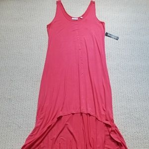 New York & Co sleeveless hi low dress size L nwt